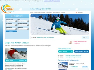 single wintersport vakanties screenshot cirkel.nl