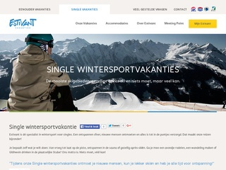 single wintersport vakanties screenshot estivant.nl