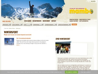 single wintersport vakanties screenshot mambo.nl