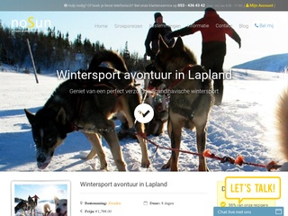 single wintersport vakanties screenshot nosun.nl