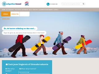 single wintersport vakanties screenshot one2gethertravel.nl