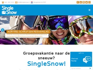 single wintersport vakanties screenshot singlesnow.nl