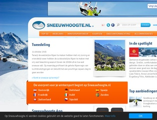beste wintersport sites screenshot sneeuwhoogte.nl